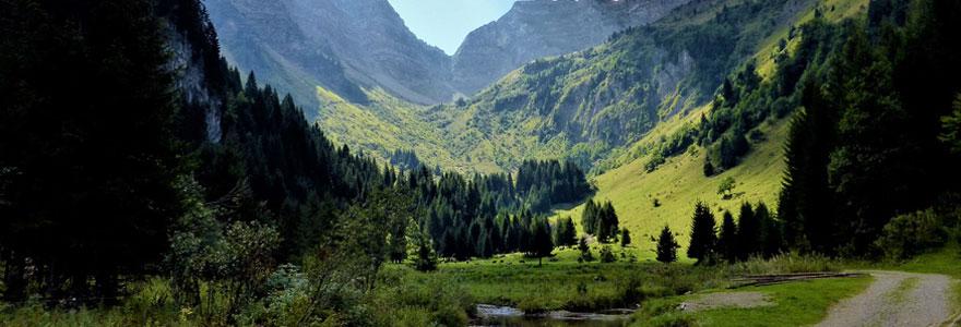 Paysage des Alpes Françaises proche de Megève